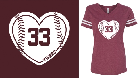 T-Shirt Baseball Heart