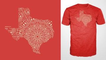 T-Shirt Texas Mandala