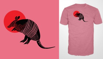T-Shirt Sunset Armadillo