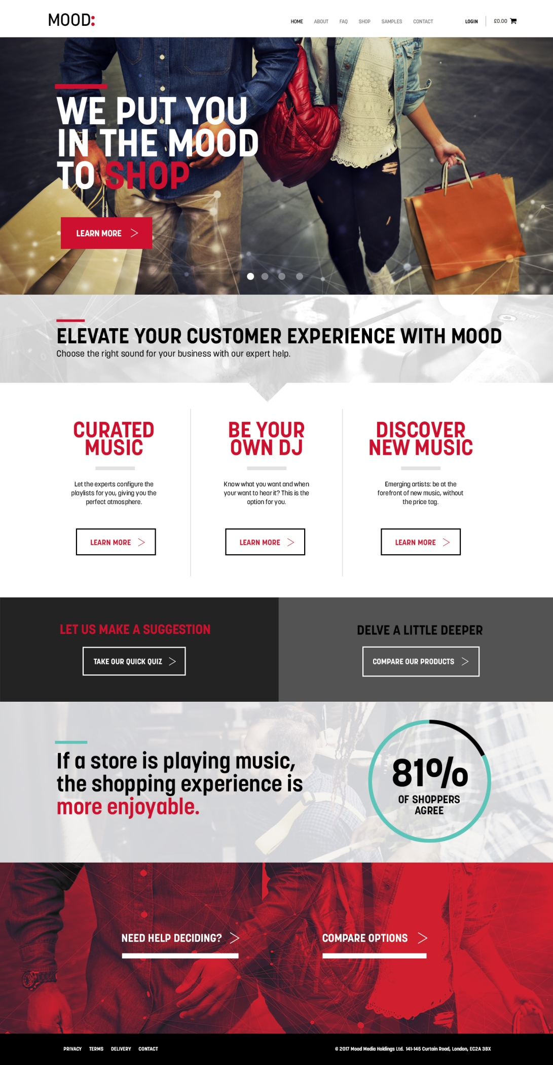 Mood International Shop Site